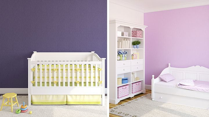 babyzimmer m dchen lila. Black Bedroom Furniture Sets. Home Design Ideas