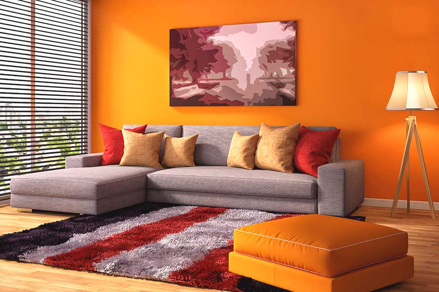 orange pur energiekur f r ihre w nde farben magazin farben shop farbe online kaufen. Black Bedroom Furniture Sets. Home Design Ideas